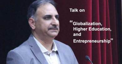 "KU organises talk on ""Globalization, Higher Education and Entrepreneurship"""