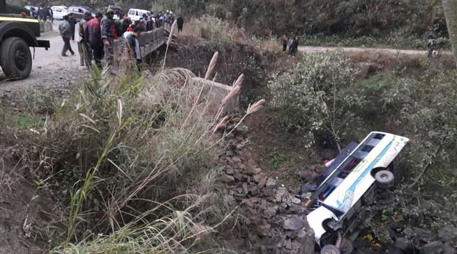 Manipur- 10 dead, many injured as bus falls into stream