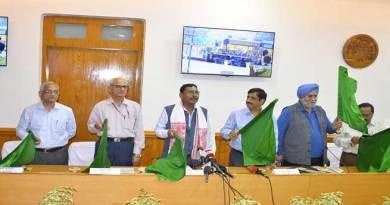 First BG Pssenger train in Baraigram-Dullabcherra section flagged off