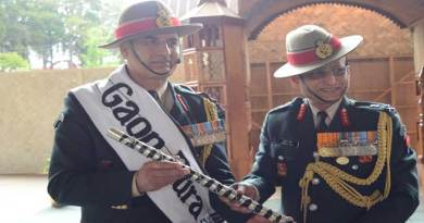 Saha handed over the Assam Regiment Reins to Negi