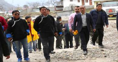 Khandu Visits Sumbachu Hydro Power Project at Zemithang