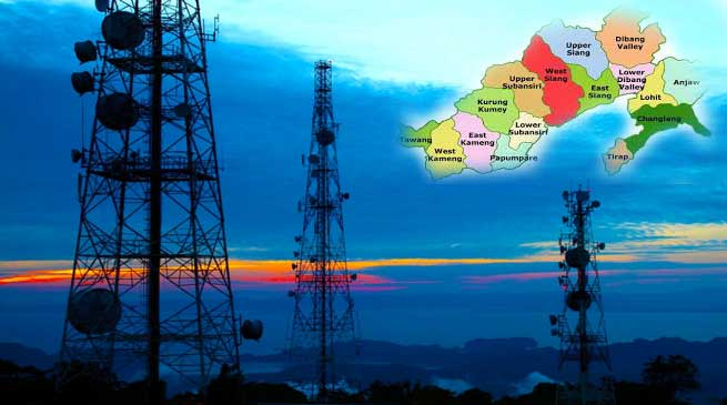 Mobile service to every villages of Arunachal by 2018