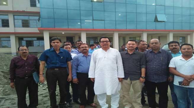 Chowna Mein Visits under construction Mini Secretariat building at Namsai