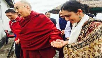 Arunachal- Dalai Lama Reaches Bomdila