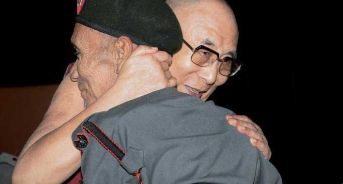 Dalai Lama meets AR Jawan who escorted him to India 58 yrs ago