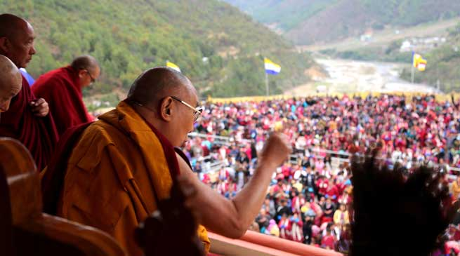 Dalai Lama Consecrates Thupsung Dhargya Ling Monastery in Dirang