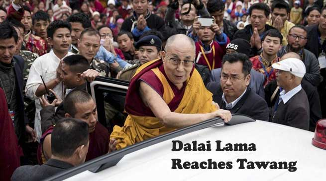 WATCH VIDEO- Dalai Lama Reaches Tawang