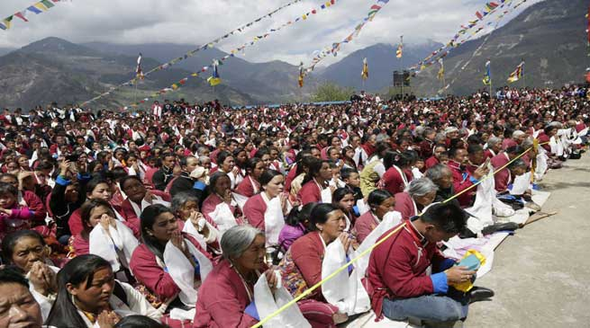 Dalai Lama Starts Teachings in Tawang Stadium