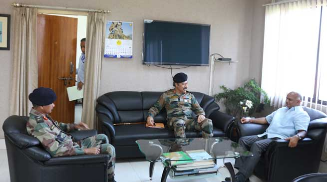 GOC DS Ahuja and Arun Kumar Meets CS Assam
