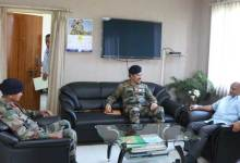 Photo of GOC DS Ahuja and Arun Kumar Meets CS Assam