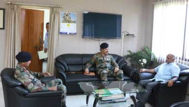 Photo of GOC DS Ahuja and Arun Kumar Meets CS Assam
