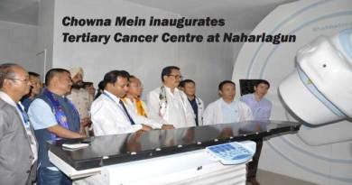 Itanagar- Chowna Mein inaugurates Tertiary Cancer Centre