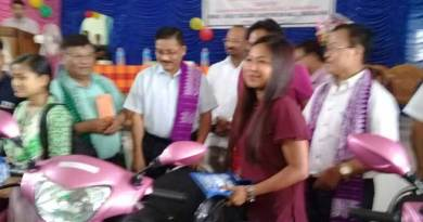 BTC distributes scooties to meritorious girl students