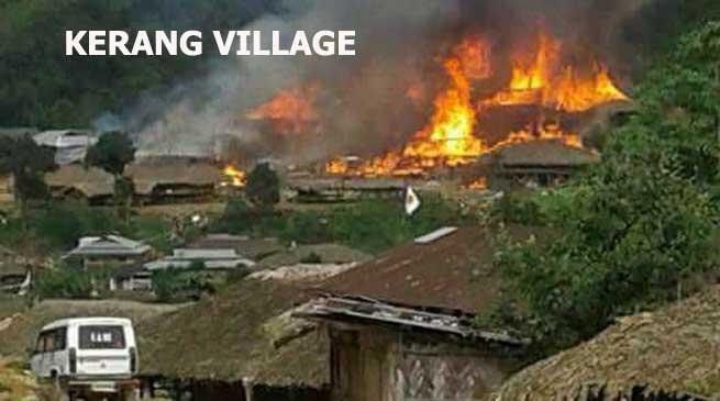 Khandu expresses shock at loss of Property in Kerang Village Blaze