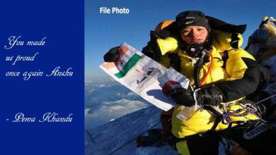 Photo of Pema Khandu congratulates mountaineer Anshu Jamsenpa