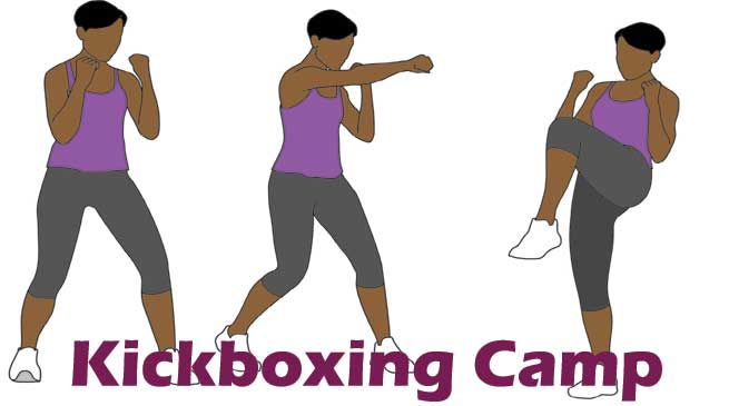 Kickboxing training camp for girls and boys