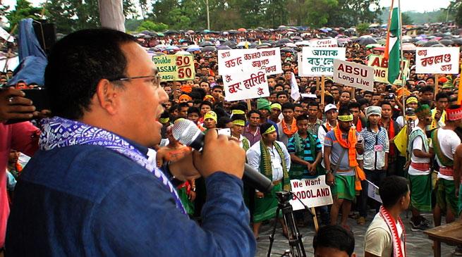 Assam- ABSU Organises Mass Gathering on Demand of Bodoland