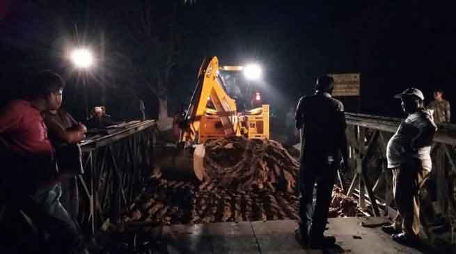 BRO restore damaged Bailey Bridge