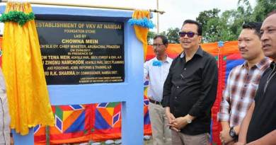 Namsai- Chowna Mein Lays foundation stone for VKV