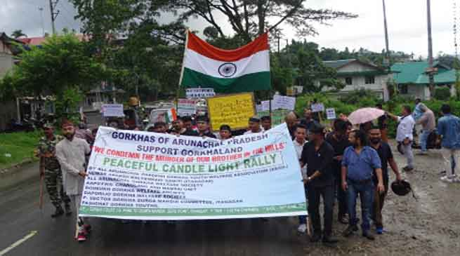 Gorkha Community carried out solidarity march in Itanagar