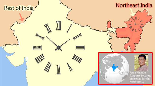 After Khandu's demand for Separate Time Zone, DST initiates Study on the same