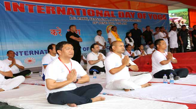 Yoga helps to maintain energy, strength, and relieve stress- Pema Khandu