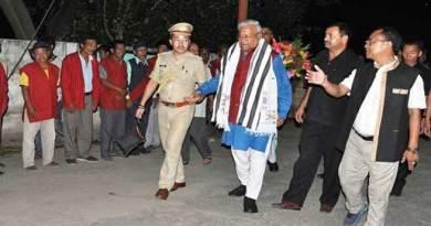 Inspite of rain, landslides, Arunachal Governor PB Acharya Visits Raga
