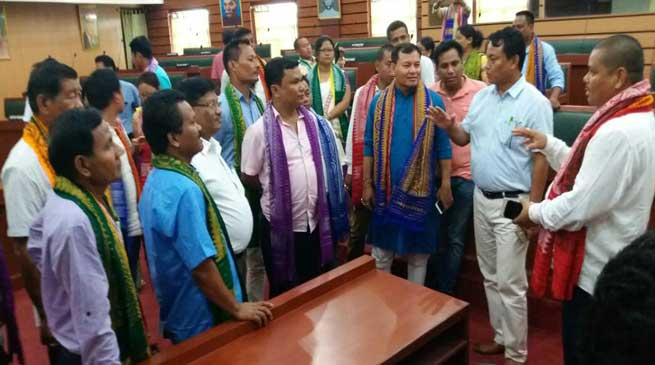 Sonowal Kachari Councilteam exposure visit to BTC