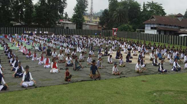 Security Forces Observed World Yoga Day