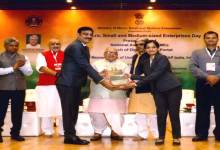 "Photo of Basant Khetan receives National Award of ""Best Entrepreneur in NE Region "" by the Ministry of Micro, Small & Medium Enterprises, Government of India"