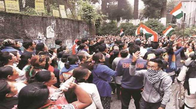 GJM observes Black Day in Darjeeling