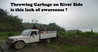 Throwing Garbage in River side,  lack of Awareness ?