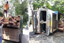 Kokrajhar- Police seizes Illegal timber laden truck