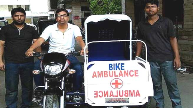 Man builds motorbike ambulance to aid rural population