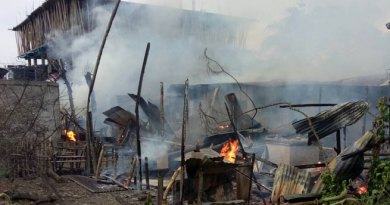 Massive Fire at Nirjuli , 4 house gutted