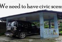"Photo Shows- ""We need civic sense"""