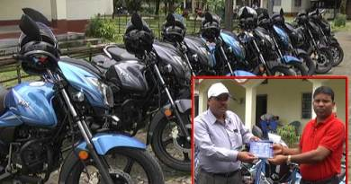 BTC Veterinary Doctors gets Motor Bike from Council