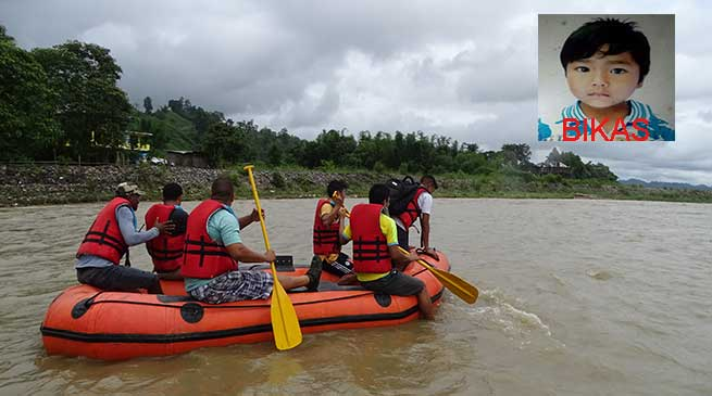 6 years Bikas drowned in Dikrong River, body still trace less