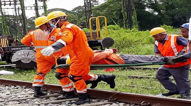 NFRailway organised Joint Mock Drill with NDRF