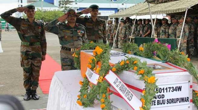 Assam Rifles pays Tribute to Martyred Rifleman Biju Sorupuwar