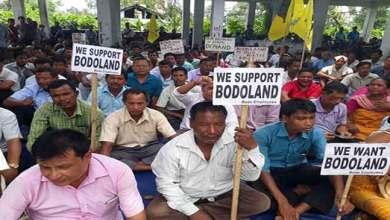 Photo of Kokrajhar- Bodo Employees sitting on dharna demanding Bodoland