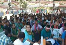 Photo of Farmers dharna in support of Bodoland state