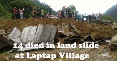 Itanagar- 14 died in landslide at laptap village