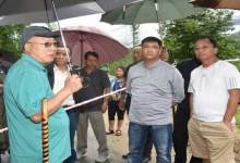 Khandu took stock of the damaged chunk of Itanagar-Naharlagun Highway