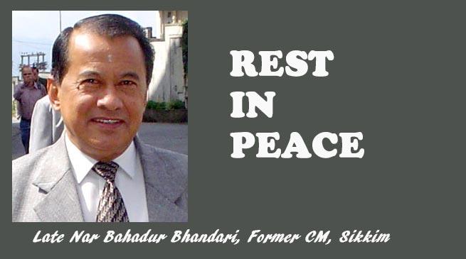 Sikkim: Former CM Nar Bahadur Bhandari passes away