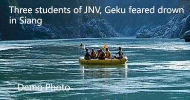 Three students of JNV, Geku feared drown in Siang