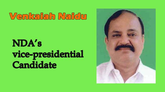 vice-presidential election- NDA nominate Venkaiah Naidu
