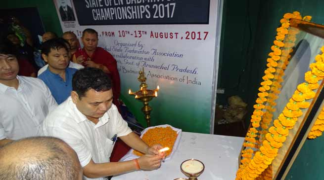 5th edition of Dorjee Khandu Memorial State Open Badminton Championship-2017 begins