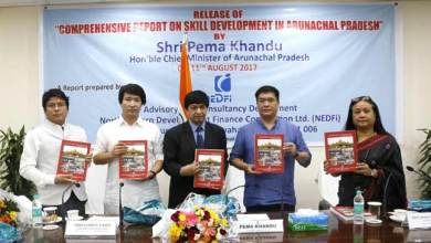 Photo of Khandu releases  report on 'Skill Development in Arunachal Pradesh' compiled by NEDFI