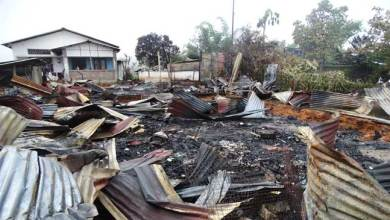 Photo of Inferno devour 3 houses, 9 family rendered homeless at Nerba Colony